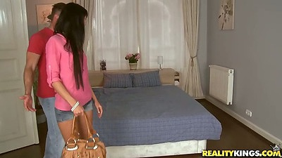 Gina Devine comes to mikes apartment for some action